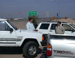 We meet at Tacna Az near the entrance